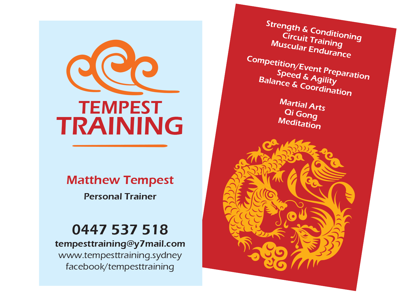 Tempest Training business card